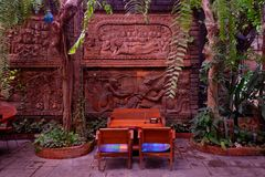 Beautiful corner in coffee shop. Beautiful corner in coffee shop, Thailand royalty free stock photos