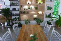 Beautiful corner in coffee shop. Beautiful coffee corner shop in Chiangmai stock image