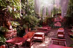 Beautiful corner in coffee shop. Beautiful corner in coffee shop, Thailand royalty free stock images