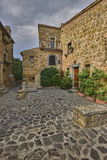 Beautiful corners and streets,  Civita di Bagnoregio Stock Photos