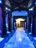 Beautiful Corridor. Its photo of beautiful corridor with blue lighting.place - Raja Dinkar Kelkar Museum, Pune in India stock images