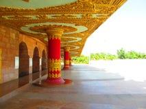 Beautiful corridor. Its photo of corridor of meditation hall at Global pagoda, Mumbai in India stock images