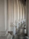 Beautiful corridor in  Phra Pathom Chedi temple Royalty Free Stock Photos