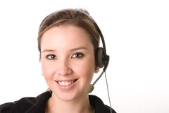 Beautiful costumer service Stock Photo