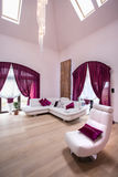 Beautiful cosy living room. Image of beautiful cosy living room with decorative crystal chandelier stock photos