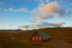 Beautiful cottage in the east of Iceland Royalty Free Stock Photography