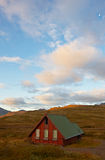 Beautiful cottage in the east of Iceland Royalty Free Stock Image