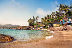Beautiful cottages at Goa beach Royalty Free Stock Photography