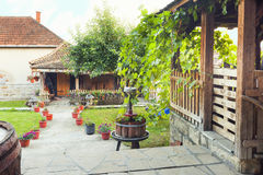 Beautiful cottages in a winery resort Royalty Free Stock Photos