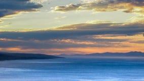 Beautiful Cloudy Sunset in Makarska, Croatia stock photo