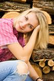 Beautiful country girl royalty free stock photo