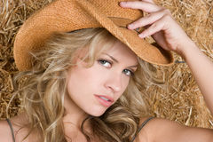 Beautiful Country Girl stock images