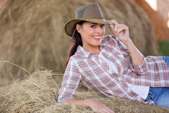 Beautiful country girl Stock Photography