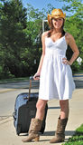 Beautiful country girl - traveling Royalty Free Stock Photos