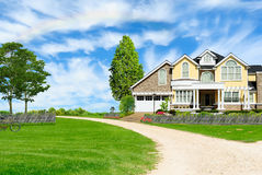 Beautiful country house Stock Images
