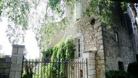 Beautiful country house in south of France stock video footage