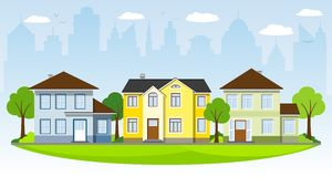 Beautiful country houses Royalty Free Stock Image