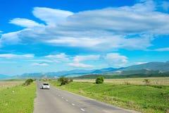 Beautiful country road, Georgia Royalty Free Stock Image