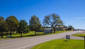 Beautiful country road in Oklahoma. USA 2017 Royalty Free Stock Photos