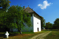 Beautiful country scenery house. Traditional old house in the middle of nature Royalty Free Stock Photos