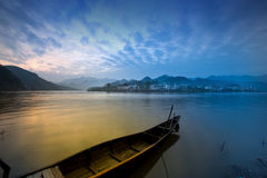 Beautiful country scenery in a lake, China Royalty Free Stock Images