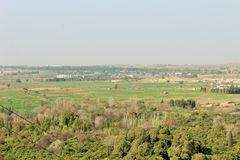 Beautiful country side of kalar kahar in Punjab. A beautiful view of fields and crops in the country of Punjab, india, Pakisan, asia, africa, europe. lanscape Stock Images