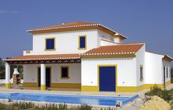 Beautiful countryhouse with swimmingpool. In the Algarve in Portugal Royalty Free Stock Photos
