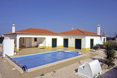 Beautiful countryhouse with swimmingpool. In the Algarve in Portugal Stock Images