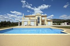 Beautiful countryhouse with swimmingpool. In the countryside Royalty Free Stock Image