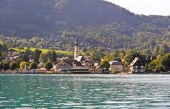 The beautiful countryside around Lake Wolfgang Stock Photo