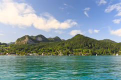 The beautiful countryside around Lake Wolfgang Royalty Free Stock Photo