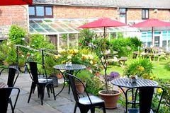Beautiful countryside cafe in England Stock Image