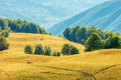 Beautiful countryside scenery in late summer stock image
