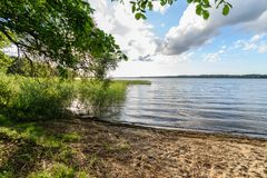 Beautiful countryside landscape. Natural environmental detail view in latvia royalty free stock photos