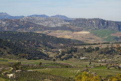 Beautiful countryside and mountains around Ronda Stock Photography