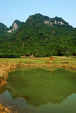 Beautiful countryside of Quang Binh, Viet Nam Royalty Free Stock Photo