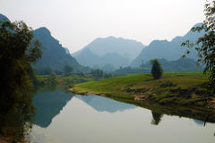 Beautiful countryside of Quang Binh, VietNam Royalty Free Stock Photo