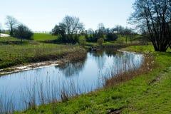 Beautiful Countryside Riversummer Landscape Stock Image