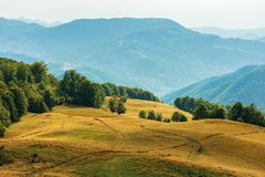 Beautiful countryside scenery in late summer stock photography