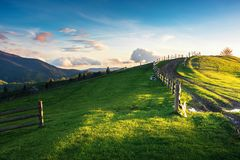 Beautiful countryside scenery in mountains royalty free stock images