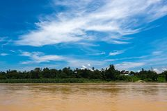 Beautiful countryside scenery, Sungai Perak river bank located in Perak State,Malaysia Royalty Free Stock Photos