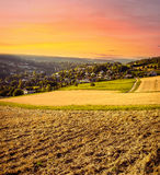 Beautiful Countryside Sunset Stock Images