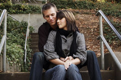 Beautiful Couple. Young and attractive couple in the park Stock Photo