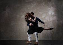 Beautiful couple in the active ballroom dance Royalty Free Stock Photography