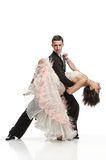 Beautiful couple in the active ballroom dance Royalty Free Stock Photo