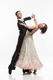 Beautiful couple in the active ballroom dance Royalty Free Stock Image