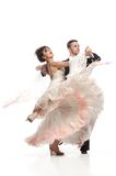 Beautiful couple in the active ballroom dance Stock Images