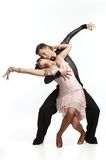 Beautiful couple in the active ballroom dance Stock Photos