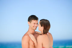 Beautiful couple at the beach Royalty Free Stock Images