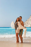 Beautiful couple at the beach Royalty Free Stock Image